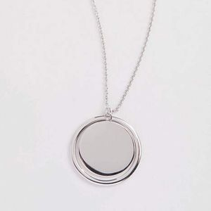 J. Jill - Sterling Silver Circle & Ring Necklace